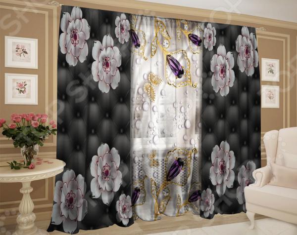 Фотокомплект: тюль и шторы ТамиТекс «Глубокий смысл» комплект шторы и тюль мартекс фиолетовый сад