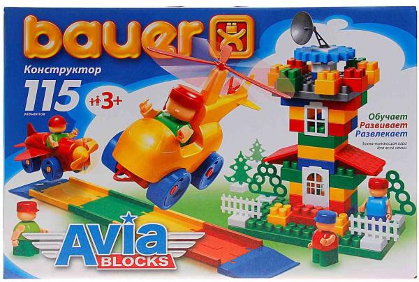 Конструктор игровой Bauer «Авиа» 23085 конструктор игровой bauer автодорога