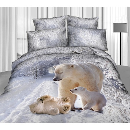 Купить Комплект постельного белья Mango «Белые медведи». 2-спальный