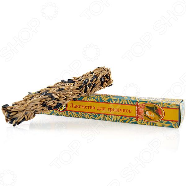 Лакомство для грызунов ВАКА «Зерновая медовая палочка»