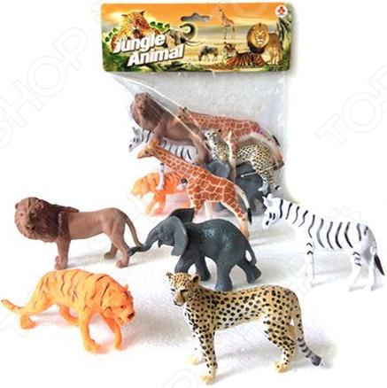 Набор фигурок игрушечных Наша Игрушка Jungle animal «Дикие животные». Количество предметов: 6