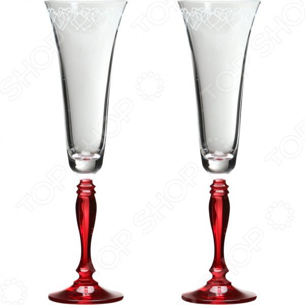 Набор бокалов для шампанского Bohemia Crystal Love 674-110 bohemia crystal набор бокалов для шампанского felina 25 см 2 шт