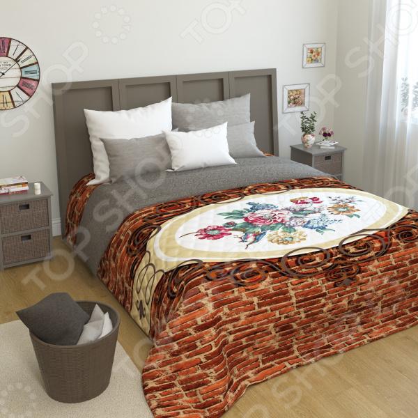 Покрывало стеганое Сирень «В стиле лофт» фабрика прямая кровать mikasa 1 8 м специальный весенний матрас юбка покрывало простыни защиты пакета почты в убыток
