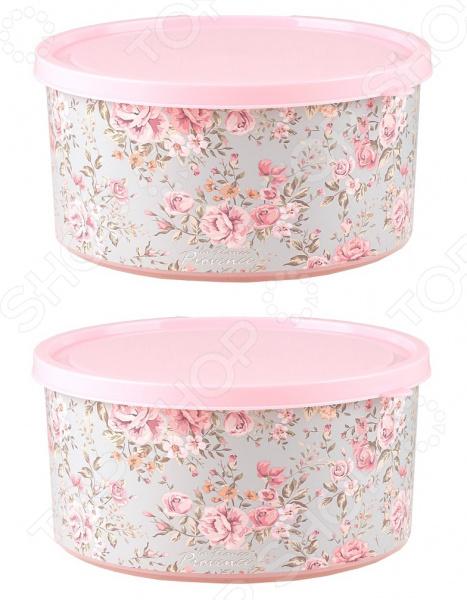 Набор контейнеров круглых Полимербыт Fleur «Прованс» SGHPBKP486