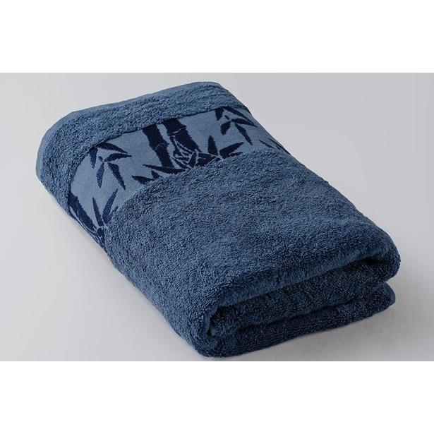 фото Полотенце махровое Ecotex «Бамбук». Цвет: синий. Размер полотенца: 41х70 см