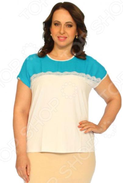 Блузка Salvi «Лот 1000». Цвет: голубой