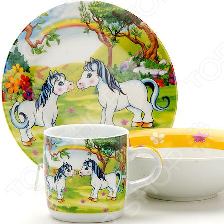 Набор посуды для детей «Пони» LR-22864