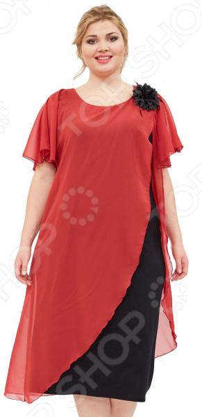 Платье Матекс «Загадочная незнакомка». Цвет: бордовый