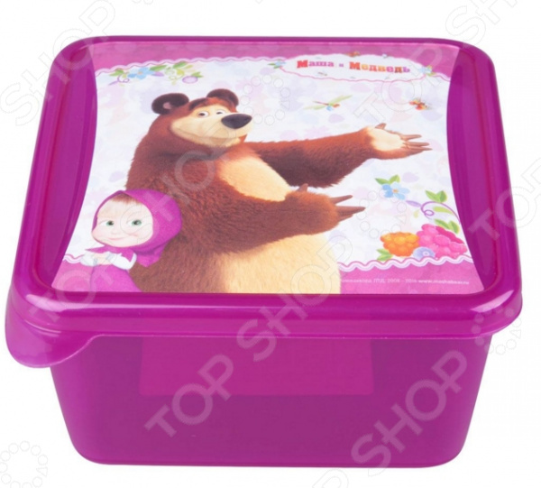 Детская емкость для хранения «Маша и Медведь» 0616005 емкость для хранения маша и медведь mini с крышкой цвет желтый 750 мл
