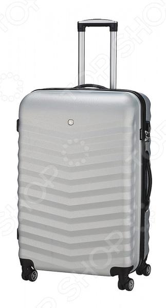 Чемодан Wenger Fribourg станет незаменимым помощником для тех, кто часто путешествует. С таким аксессуаров вы легко отправитесь даже в длительное путешествие, ведь благодаря удивительной вместимости почти 35 л, в него поместятся все необходимые вещи и предметы. Корпус чемодана выполнен из удивительно прочного АБС-пластика, который отличается прекрасной устойчивостью к истиранию, различным загрязнениям и простотой в уходе. Для удобного ношения предусмотрены две ручки, которые позволяют чемодан нести в руках.  Преимущества чемодана  Снабжен четырьмя маневренными колесиками, вращающимися на 360 , которые гарантируют удобное перемещение по различным ровным поверхностям.  Усиленные эргономичные ручки облегчат поднятие.  Цифровой замок с трехзначным кодом TSA надежно обеспечивает безопасность вещей и исключает доступ посторонних к содержимому.  Простой и быстрый доступ в основное отделение.  Алюминиевая телескопическая ручка с фиксатором гарантирует исключительное удобство в управлении чемоданом Эта модель сумки отличается не только своими прекрасными эксплуатационными характеристиками, но и современным дизайном.