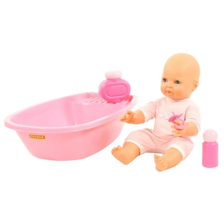 Купить Набор для купания: кукла, ванночка и принадлежности POLESIE «Забавный пупс»