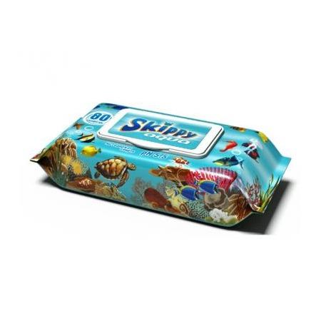 Влажные салфетки для детей SKIPPY Aqua