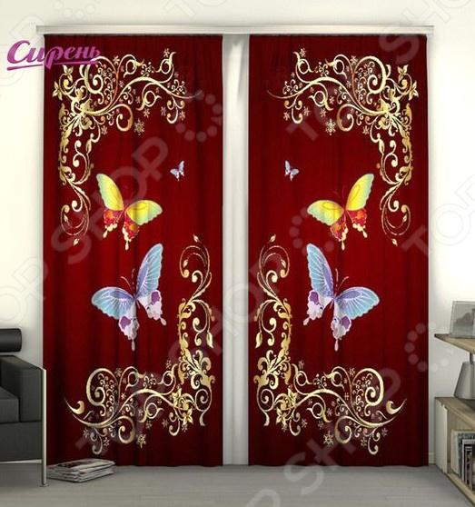 Фотошторы Сирень «Две бабочки» сирень бабочки