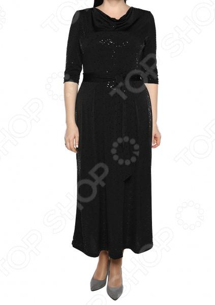 Платье VEAS «Искрящийся образ». Цвет: черный
