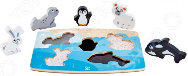 Головоломка тактильная Hape «Арктические животные»