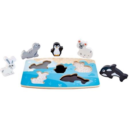 Купить Головоломка тактильная Hape «Арктические животные»