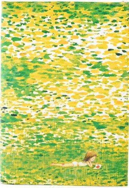 Обложка для автодокументов кожаная Mitya Veselkov «Девочка в травке»