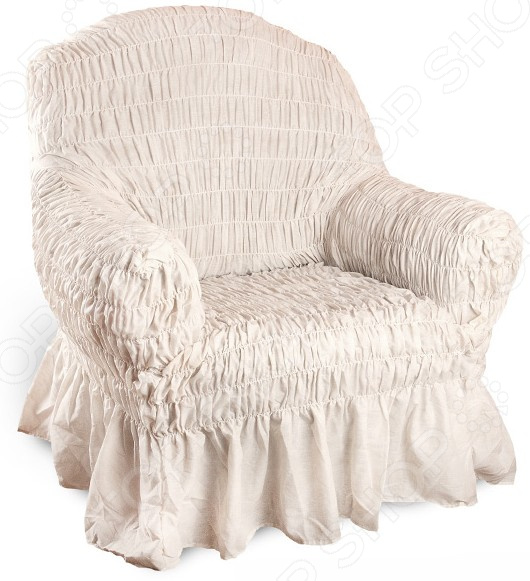 Приготовьтесь к изменению интерьера Натяжной чехол на кресло Фантазия. Белый мрамор инновационный чехол, который даст вторую жизнь старой мебели, поможет ей засиять новыми цветами и кардинально преобразит интерьер. Чехол выполнен в пастельном светло-бежевом тоне, и будет стильно смотреться в любой комнате. Преимущества  Сделан из мягкой ткани, приятной на ощупь.  Прострочен эластичными нитями по горизонтали.  Обладает повышенной износостойкости.  Ткань не деформируется и не выцветает после стирки.  Материал не просвечивает.  Высокая степень растяжимости и усадки.  Его можно не гладить.  Стоит отметить, что чехол превосходно натягивается и садится на мебель за счет эластичных нитей, а также легкой, и воздушной ткани, которая придает визуальный объем. Поэтому надеть его на кресло не составит особого труда. Преимущественно садится на кресла стандартной формы и габаритов. Защита мебели Сохранение чистоты и гигиеничности это немаловажная часть работы, с которой чехол с легкость справляется. Он используется не только трансформации интерьера, но и для защиты от пыли, пятен, а хозяев от необходимости регулярной чистки. А ведь оригинальную ткань от мебели не так то просто выстирать. Поэтому чехол будет не только красивым дополнением, но и необходимой мерой предосторожности. Ведь случаи бывают разные.  Одежда для вашей мебели Способов обновить старую мебель не так много. Чаще всего приходится ее выбрасывать, отвозить на дачу или мириться с потертостями и поблекшими цветами. Особенно обидно избавляться от мебели, когда она сделана добротно, но обивка подвела. Эту проблему решают съемные чехлы для мебели, быстро набирающие популярность в России. Незаменимы чехлы для мебели в домах с маленькими детьми и домашними животными, в гостиных, где устраиваются застолья и посиделки, в интерьерах офисов. В съемных квартирах они помогут сохранить чистоту и гигиеничность. Но все-таки главное их предназначение это эстетическое обновление интерьера. Узнайте больше о плюсах приобретения евроче