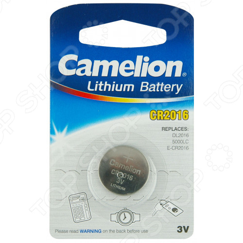 Батарейка литиевая Camelion CR2016 BL-1 dysprosium metal 99 9% 5 grams 0 176 oz