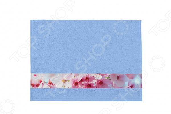 Полотенце махровое Aquarelle «Фотобордюр: Цветы 1» полотенце банное aquarelle фотобордюр павлин 1 цвет желтый 70 х 140 см