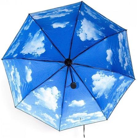 Купить Зонт складной «Голубое небо и облака»