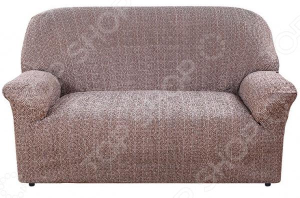 Натяжной чехол на двухместный диван Еврочехол «Коста»