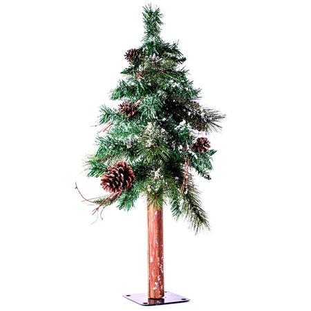 Купить Сосна искусственная Crystal Trees «Европейская заснеженная с шишками»