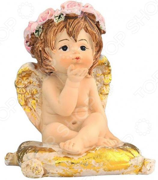 Фигурка декоративная Elan Gallery «Ангелочек на золотой подушечке»