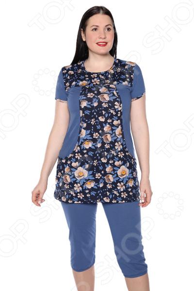 Костюм Ивассорти «Домашний уют». Цвет: синий пижамы diadora домашний костюм