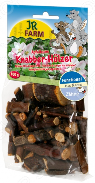 Палочки для укрепления зубов и десен у грызунов JR Farm Nibble Wood Apple Tree