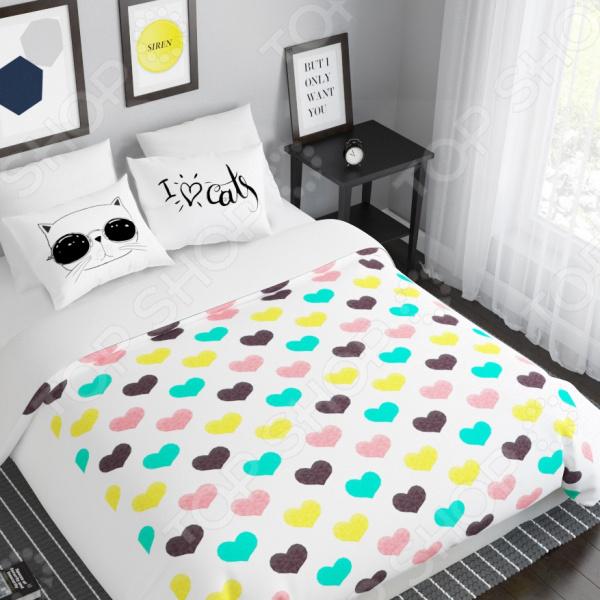 Комплект постельного белья Сирень «Люблю котов»