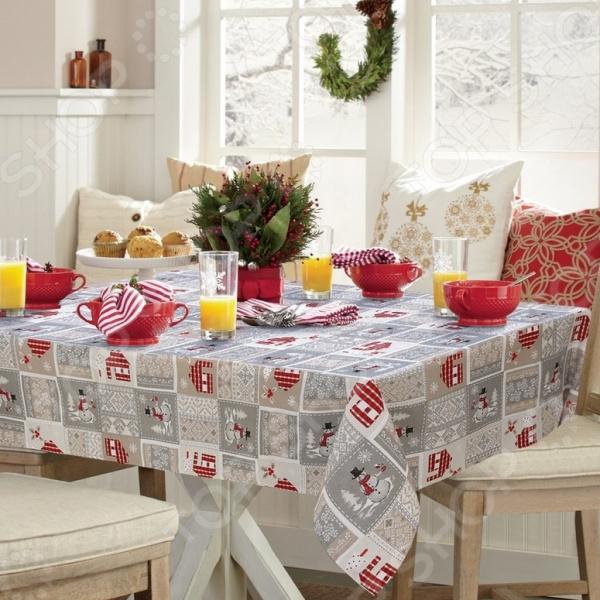 Скатерть Kauffort Santa сервировка стола