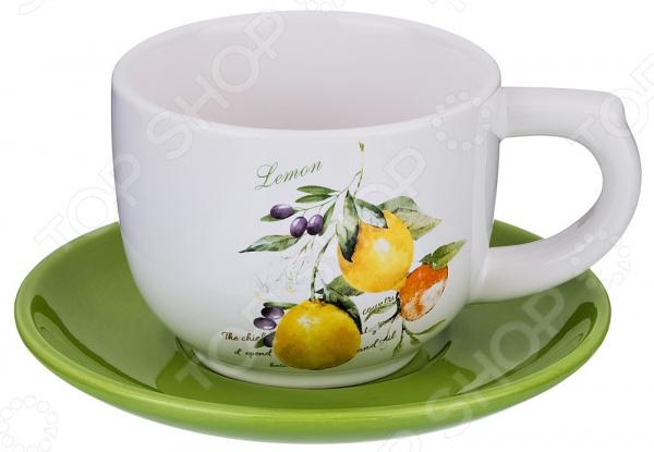 Чайная пара Lefard «Итальянские лимоны» 230-170