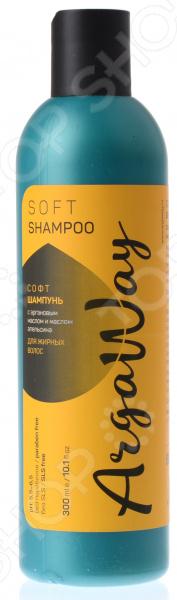Мягкий шампунь для жирных волос Argaway с маслом арганы и апельсина