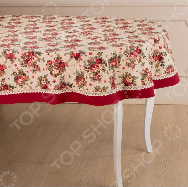 Скатерть овальная Santalino «Розовый сад» 850-833-22 сидушка на стул santalino райский сад 850 818 5