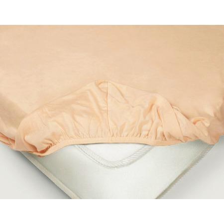 Купить Простыня на резинке Ecotex «Поплин-Комфорт». Цвет: персиковый