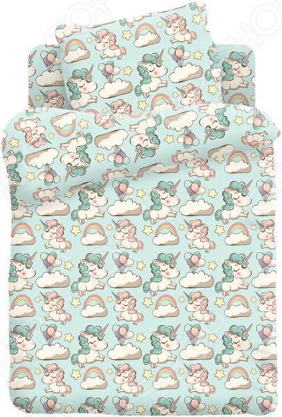 Ясельный комплект постельного белья Непоседа «Единорожки» детский комплект постельного белья непоседа урок