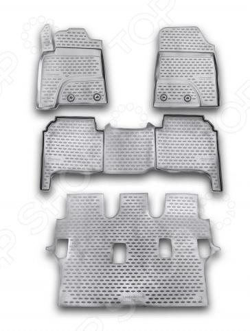 Комплект ковриков в салон автомобиля Novline-Autofamily Toyota Hilux 2015 / 5 пикап - фото 11