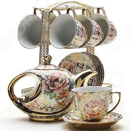 Чайный набор Loraine 22536 сервиз чайный loraine на подставке 13 предметов 43285