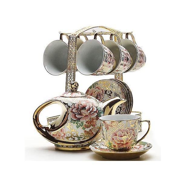фото Чайный сервиз «Золотое сияние». Рисунок: чайная роза