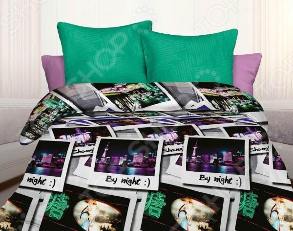 Комплект постельного белья Unison Shanghai комплект постельного белья 1 5 сп unison цвет черный розовый
