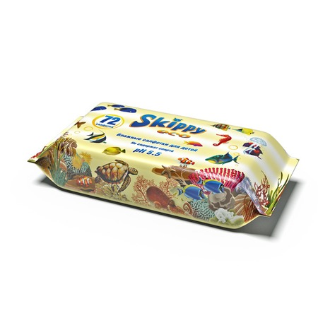 Влажные салфетки для детей SKIPPY Eco
