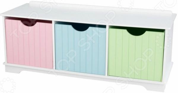 Скамья с ящиками KidKraft Storage Bench Pastel 2