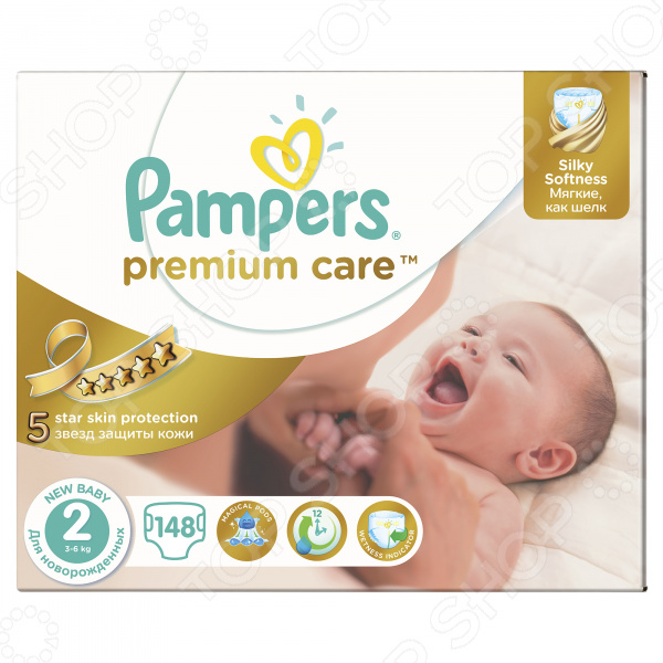 Подгузники Pampers Premium Care 3-6 кг, размер 2, 148 шт.