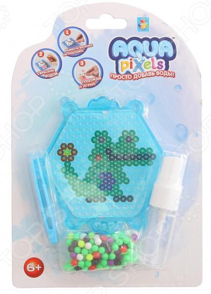 Мозаика с аппликацией 1 Toy Aqua pixels Т11386