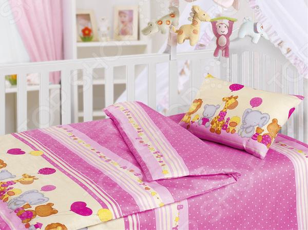 Детский комплект постельного белья Облачко «День Рождения»