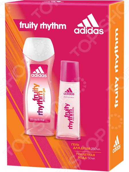 Набор женский: туалетная вода и гель для душа Adidas Fruity Rhythm набор женский туалетная вода и гель для душа adidas get ready