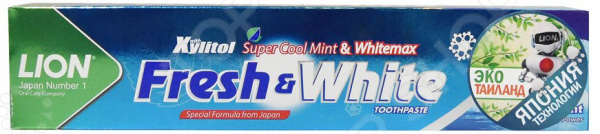 Зубная паста отбеливающая «Профессионал плюс» супер прохладная мята Thailand Fresh & White