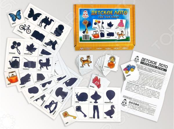 Лото развивающее Азбука тойс «Где чья тень?» баранова и худ азбука игрушек развивающее лото игра конструктор