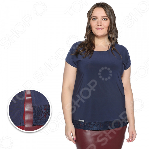 Блуза Pretty Woman «Карамельный поцелуй». Цвет: синий блуза pretty woman волшебный взгляд цвет темно синий